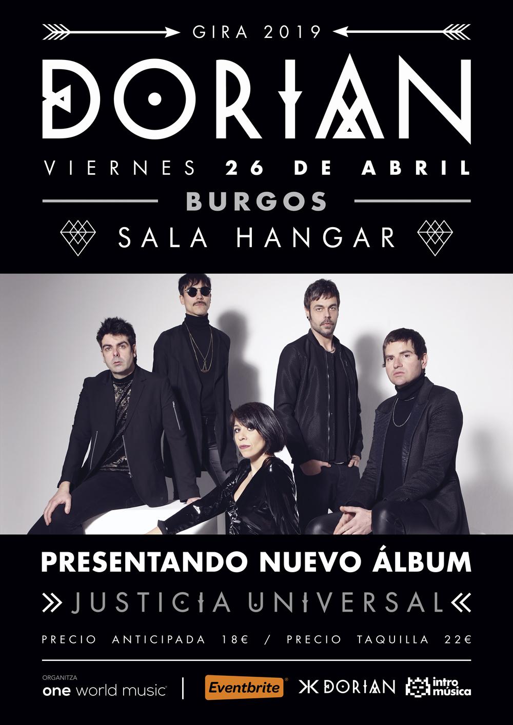 Dorian en Sala Hangar (Burgos)